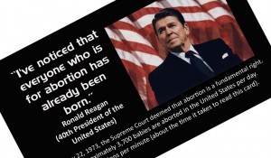 ronald reagan abortion quote front copy icon