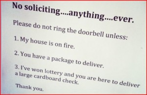 no solicit