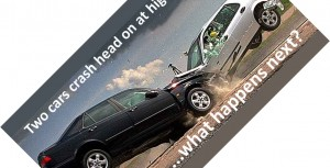 car crash front icon